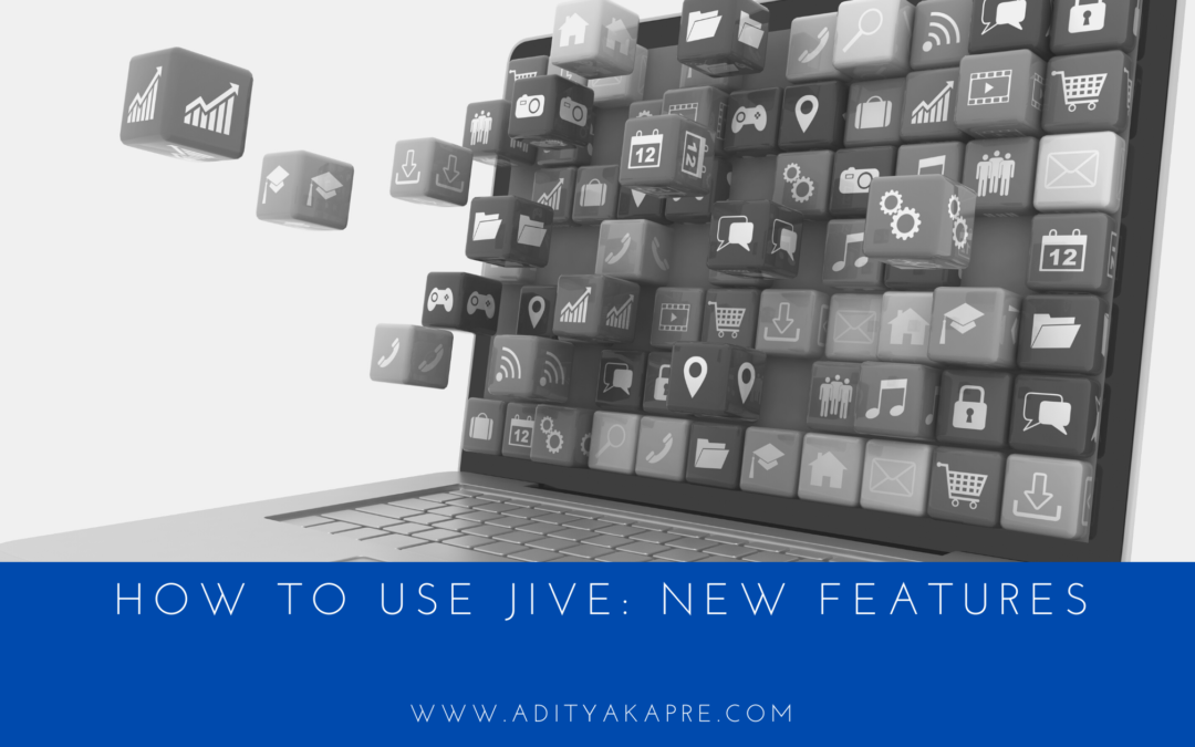 How to Use JIVE: New Features